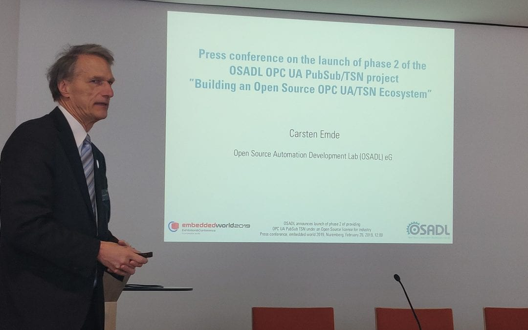 Successful launch of crowd funded project phase 2 for OPC UA TSN